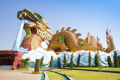 Big dragon at Dragon descendants museum. Suphanburi, Thailand Royalty Free Stock Images