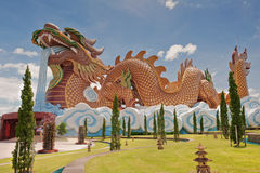 Big Dragon Statue. In Thailand Stock Photography
