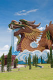 Big Dragon Statue stock image