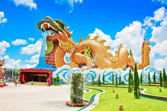 A big dragon at Suphanburi with blue sky Stock Photography