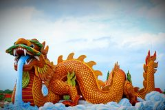 The dragon is a fairy tale Chinese animal. royalty free stock images