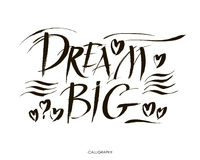 Big dream hand painted brush lettering Royalty Free Stock Photos