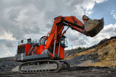 The big dredge digs royalty free stock photos