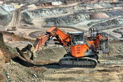 The big dredge digs Royalty Free Stock Photography
