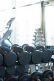 Big dumbbells are at the front Royalty Free Stock Images