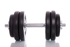 Big dumbells over white background Stock Photography