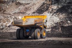 Big dump truck is mining machinery, or mining equipment to trans. Big dump truck or Mining truck is mining machinery, or mining equipment to transport coal from Stock Photography