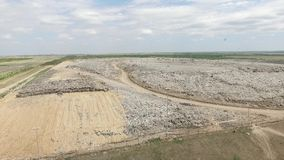 Big dump in the veld. Big  dump in the veld near the big city. Dump and garbage stock video footage