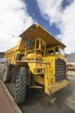 Dumper truck. A big dumper truck in a construction Royalty Free Stock Photos