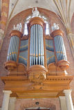 Big Dutch brown organ Royalty Free Stock Image