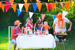 Big dutch family having grill party Stock Image