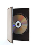 Big DVD box isolated. Big blank DVD box with disc open on white background isolated stock images