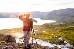 Big Dynjandi waterfall in Iceland Royalty Free Stock Photo