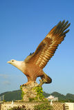 Big eagle statue - the symbol of Langkawi Royalty Free Stock Image