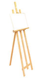 Big easel with picture frame isolated Royalty Free Stock Images