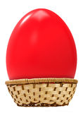 Big easter egg in basket Royalty Free Stock Photo