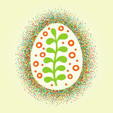 Big Easter egg glittering frame and draw ornament Royalty Free Stock Photography