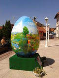 Big egg. Painted large egg in Marija Bistrica, Croatia Royalty Free Stock Photography