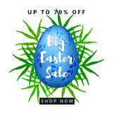 Big Easter Sale colorful background Stock Photos