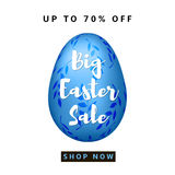Big Easter Sale colorful background. With blue egg. Vector Stock Photography