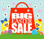 Big Easter Sale , funny chickens Stock Images