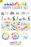 Big Easter vector set. Royalty Free Stock Photos