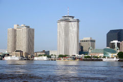 Big Easy 2. Modern river front port of New Orleans stock photos