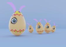 Big egg with big eye Royalty Free Stock Images