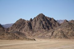 Great mountains of Egypt royalty free stock image