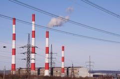 Big electic plant on blue sky background Stock Image