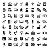 Big electronic devices icons set Stock Images