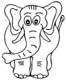 Big elephant coloring pages Stock Photos