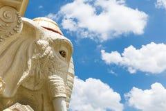 Big elephant head sculpture . Royalty Free Stock Photo