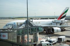 Big Emirates Airlines airplane Royalty Free Stock Image