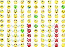 Big emoticon set for you design Stock Image