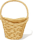 Big empty basket isolated on white - vector Royalty Free Stock Image