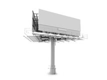 Big empty billboard Stock Image