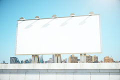 Big empty billboard on the background of the city Stock Photo