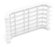 Big empty book shelves or rack. Top view royalty free illustration