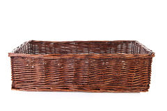 Big empty cane basket Stock Photo