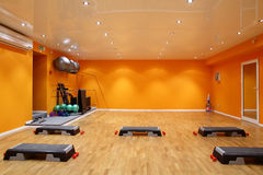 Big and empty fitness club Stock Photo