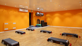 Big and empty fitness club Stock Images