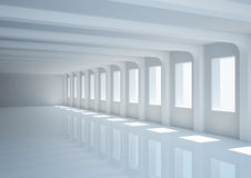 Big empty hall with columns Royalty Free Stock Photo