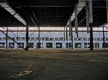 Big empty industrial building Royalty Free Stock Photography
