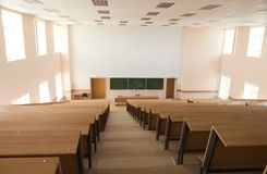 Big empty lecture hall. View from above Royalty Free Stock Image