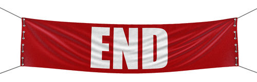 Big end Banner. Image with clipping path Royalty Free Stock Photography