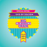 Big end of season sale design Stock Photo