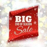 Big end of season sale poster. Stock Image
