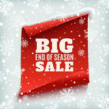 Big end of season sale poster. Stock Photography