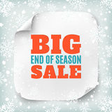 Big end of season sale poster template. Royalty Free Stock Images